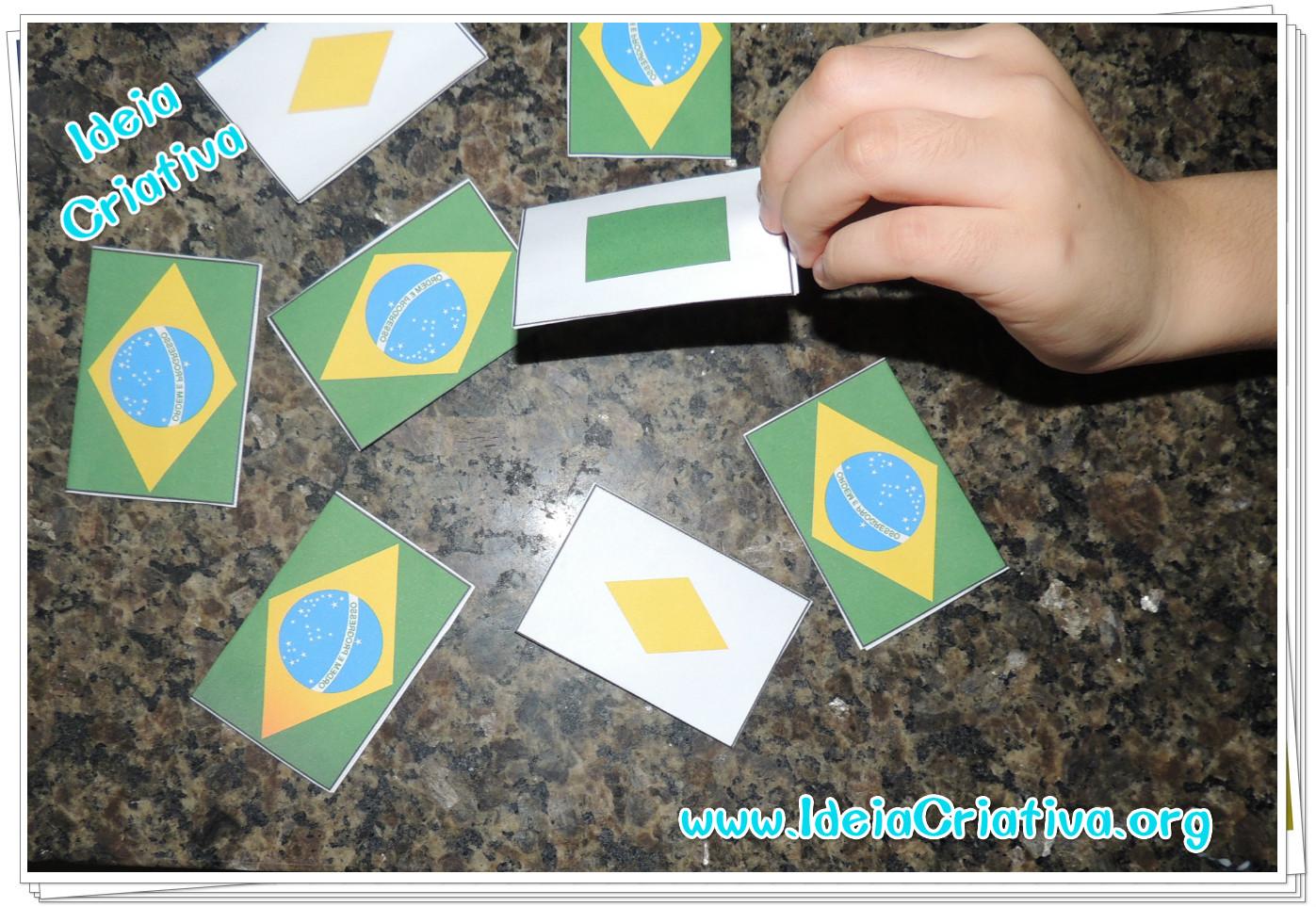 Jogo da memoria bandeira formas e cores para imprimir grátis