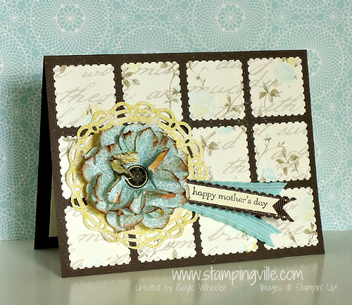 Stampin' Up! Postage Stamp Punch Mother's Day Card