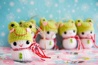 Bonhommes de neige grenouilles