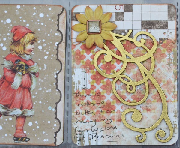 8x9 Misc Me Spread by Denise van Deventer using Christmas Collage and Leaky Shed Studio