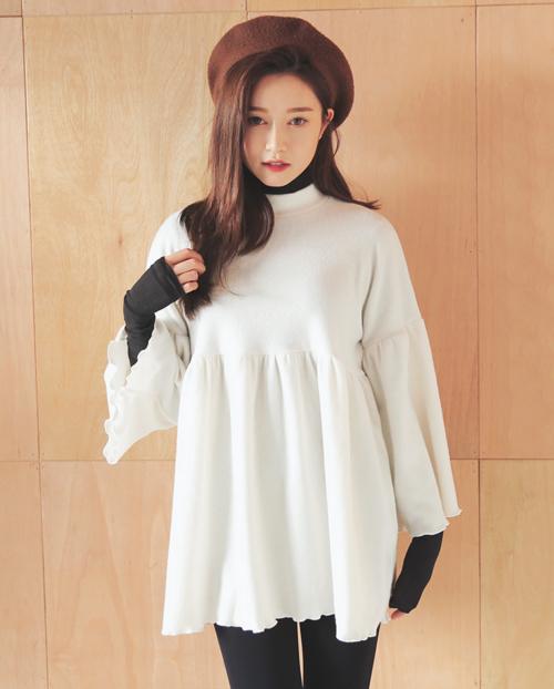 High Waist Frilled Mini Dress