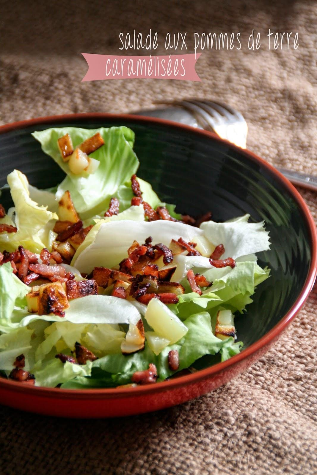 et charlotte d couvrit la cuisine salade aux pommes de terre caram lis es. Black Bedroom Furniture Sets. Home Design Ideas