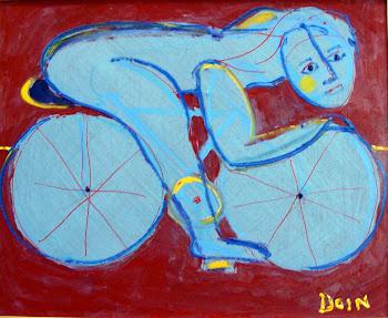 o ciclista azul - VENDIDO OTÁVIO LOBO