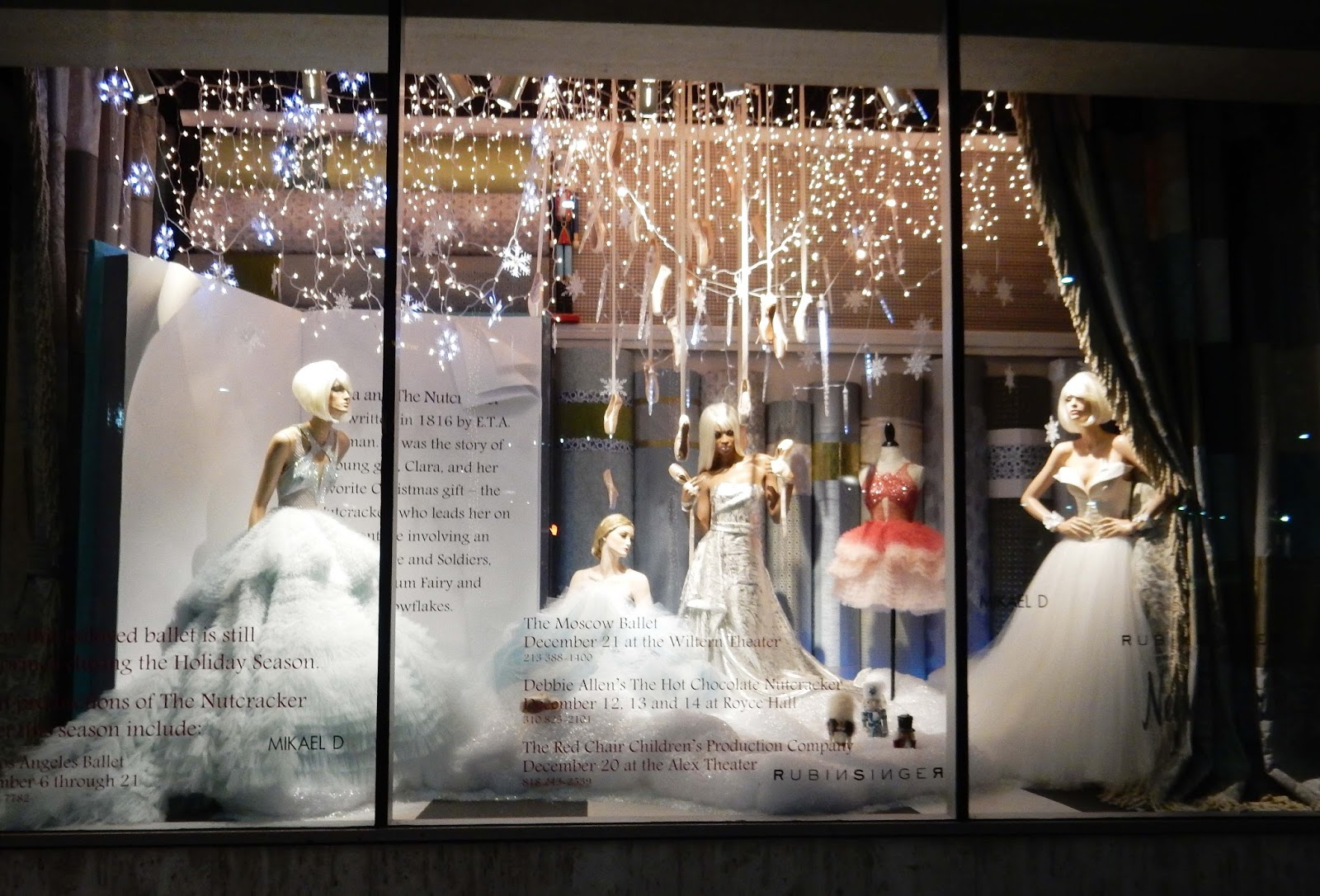 Nutcracker Ballet Marchesa dresses Neiman Marcus Holiday window Beverly Hills