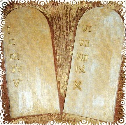 Essere cristiani i dieci comandamenti - Tavole dei dieci comandamenti ...