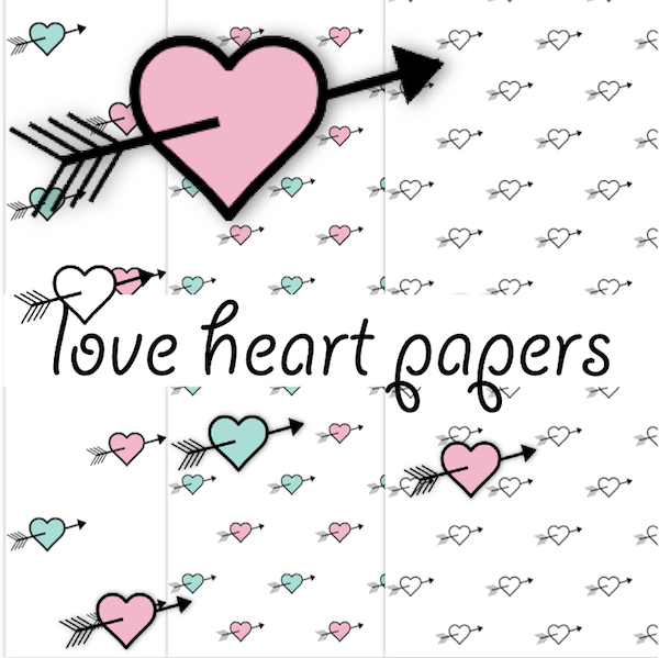 Free Digital Pastel Colored Valentines Scrapbooking Papers
