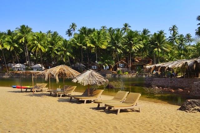 Dwarka Eco Beach Resort at Cola beach in South Goa