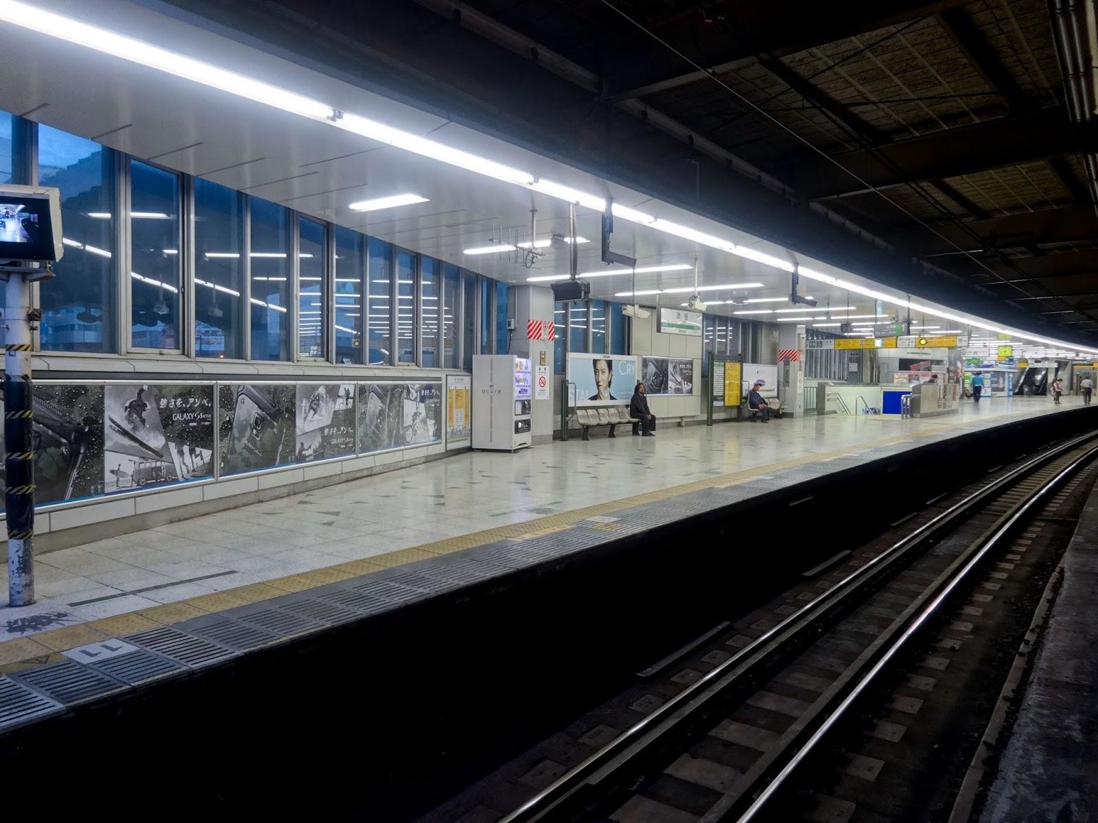 JR渋谷駅山手線ホーム〈著作権フリー画像〉Free Stock Photos