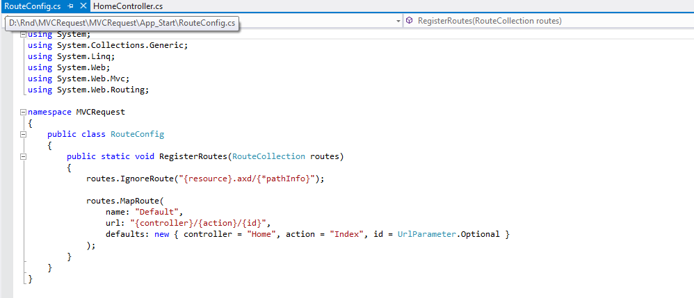How Routing works in MVC Application