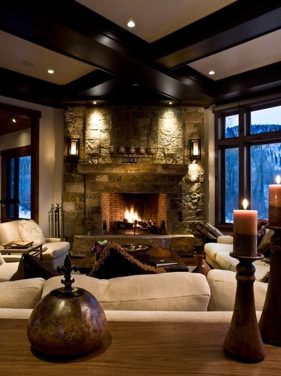 decoracion de interiores chimeneas rusticas : decoracion de interiores chimeneas rusticas:A Cozy Living Room with Fireplace