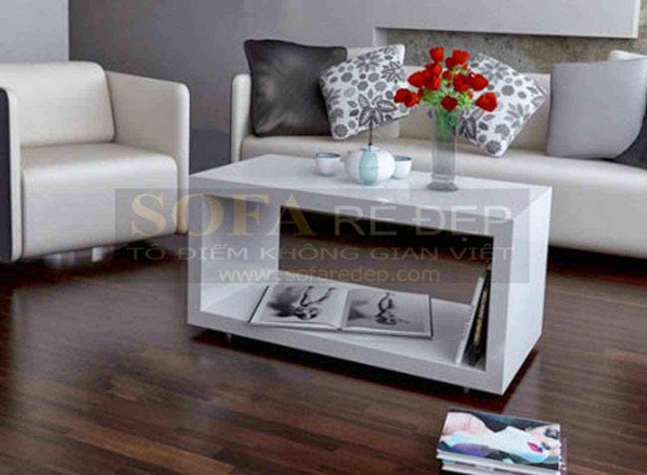 Bàn sofa gỗ BS054