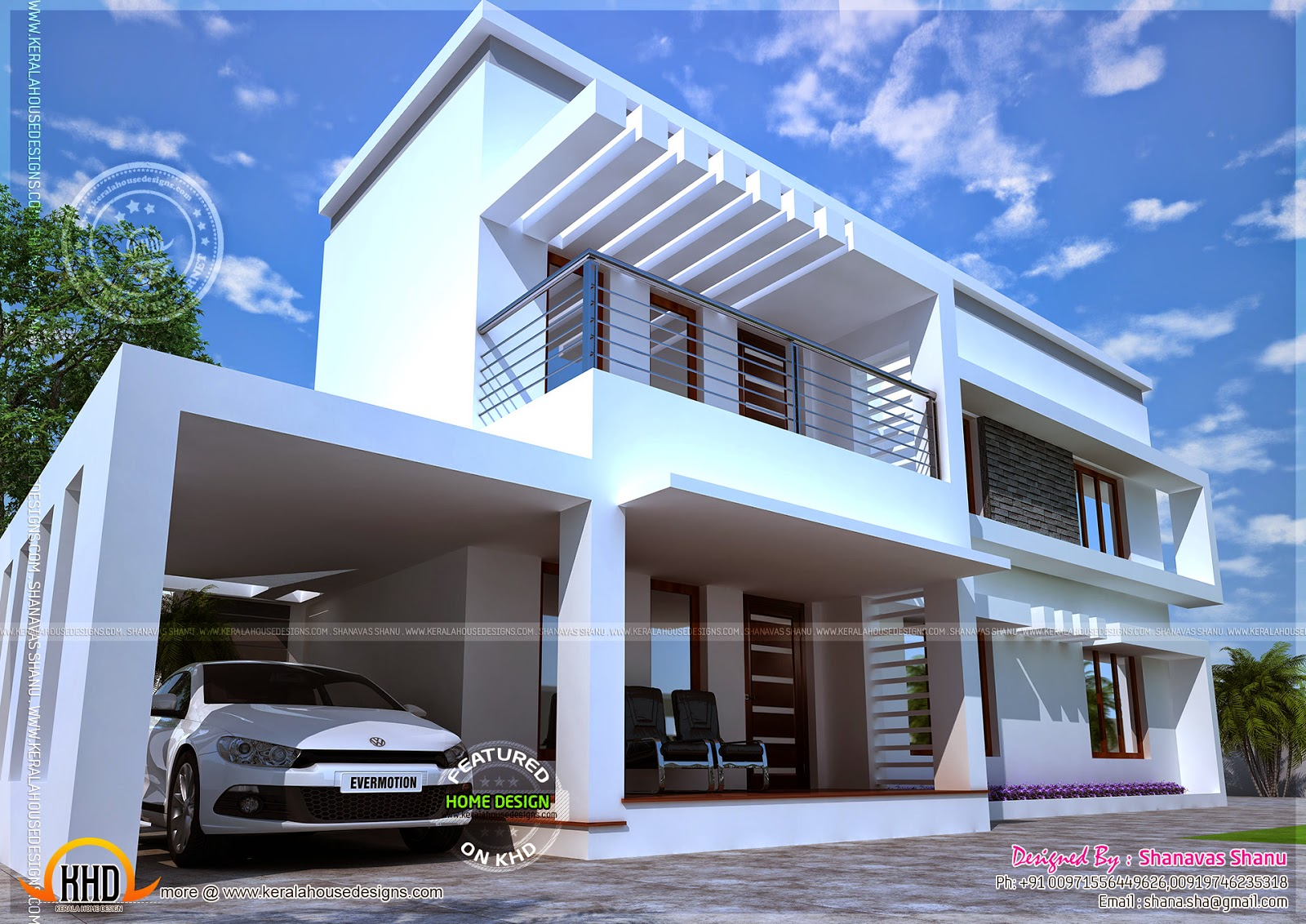 News And Article Online Modern Home Perspective With Floor Plan