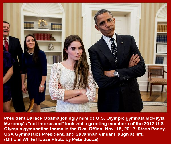 McKayla Maroney and President Obama are not impressed!