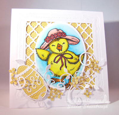 Stamps North Coast Creations Easter Bonnet Chick- Designer Sandee Shanabrough