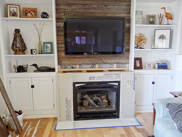 One Project at a Time - DIY Blog: The Cabin Fireplace- Part 6