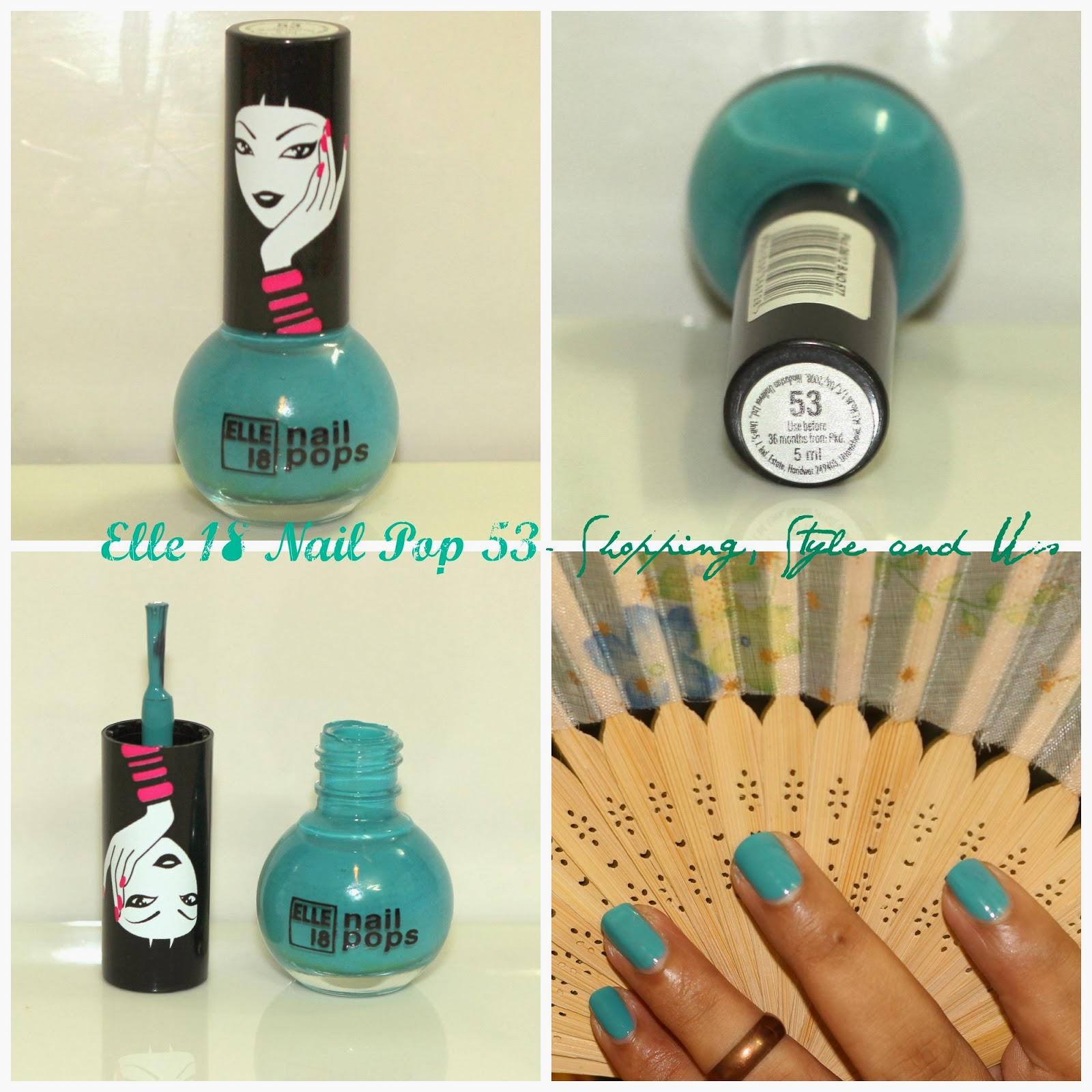 Review and Swatches | Elle 18 Nail Pop 53 (A Pretty, Muted Shade ...