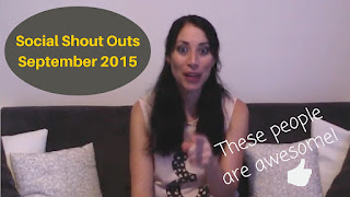 Social Shout Outs for September 2015 #SeptVidChallenge #SocialShoutOuts