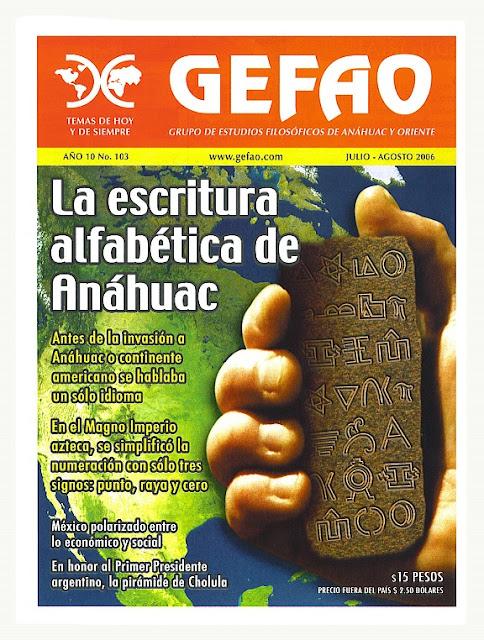 REVISTA GEFAO 103 LA ESCRITURA ALFABETICA DE ANAHUAC