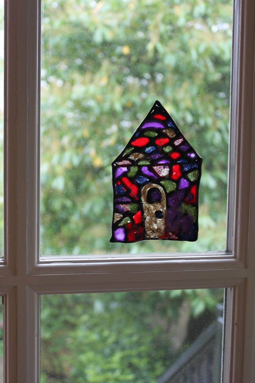 Green Owl Art Stained Glass Art Suncatcher