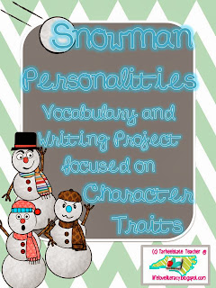 http://www.teacherspayteachers.com/Product/Snowman-Personalities-Vocabulary-and-Writing-Project30-Words-968165