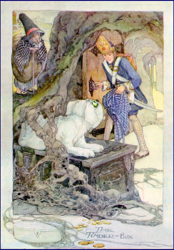 hans christian andersen's the tinderbox a The tinder-box by hans christian andersen  so he went back and fetched the tinderbox, and then the witch drew him up out of the tree, and he stood again in the high road, with his.