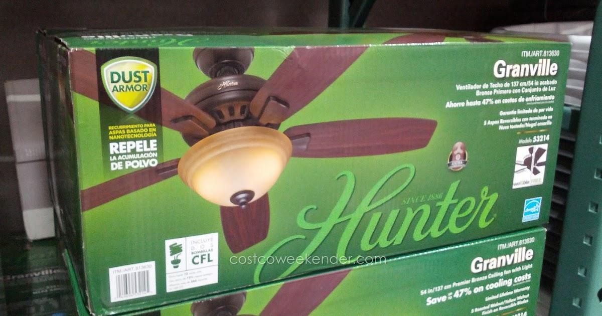 hunter granville 54 quot ceiling fan costco weekender