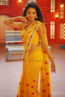 Shanvi-saree-Chandralekha-kannada-movie
