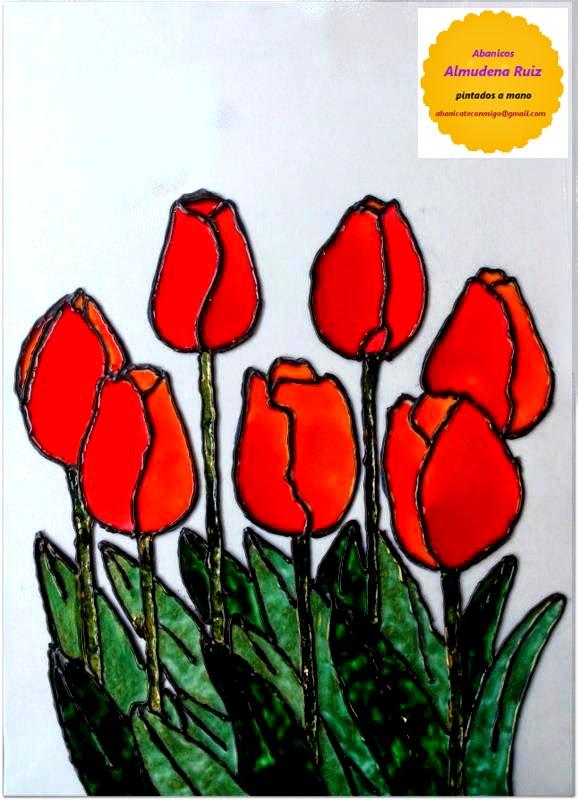 abanicos pintados a mano