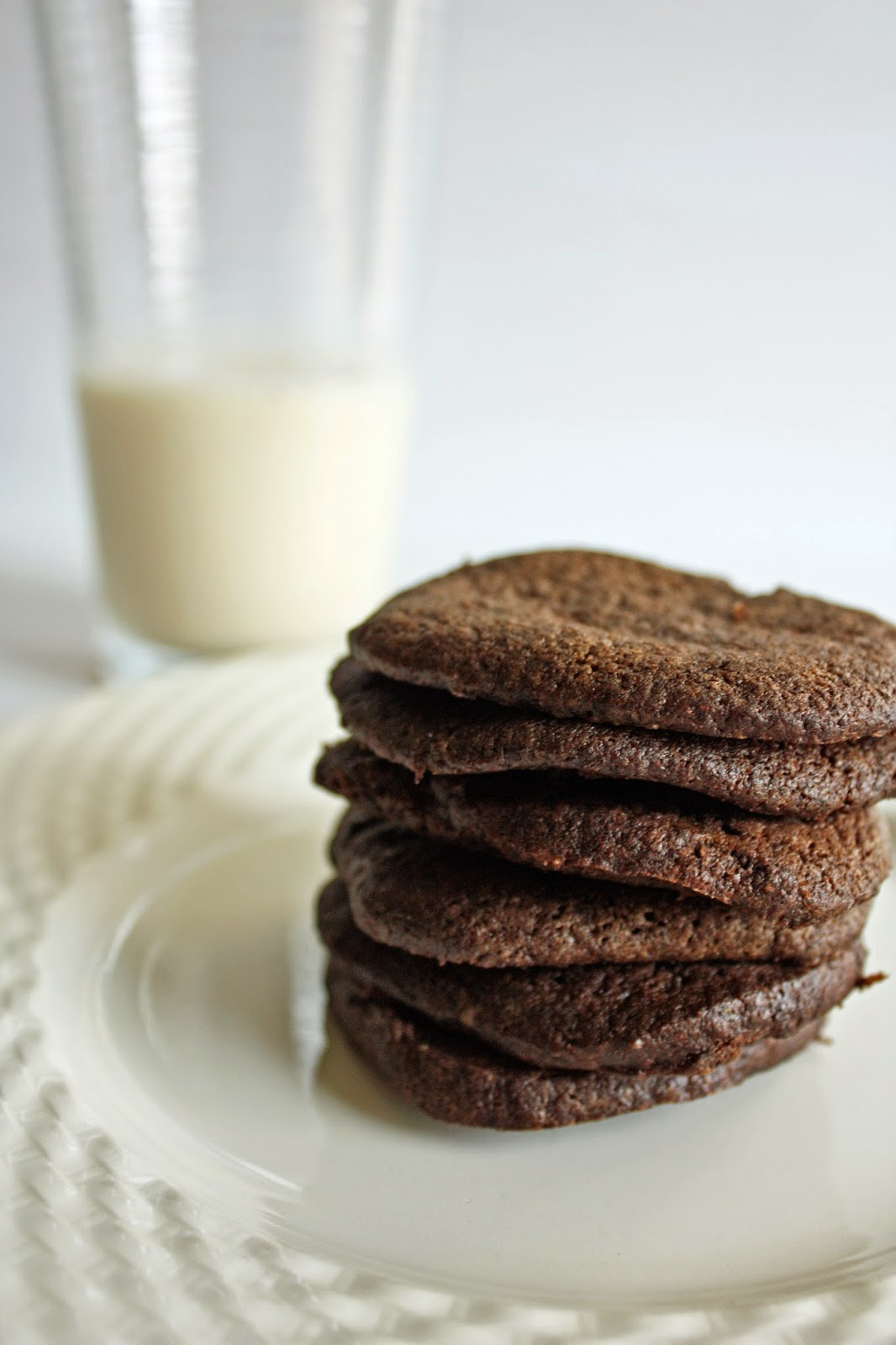 homemade vegan chocolate wafer cookies
