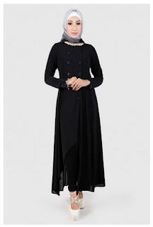 Contoh Gambar Busana Muslim Long Dress Wanita Terbaru 2016