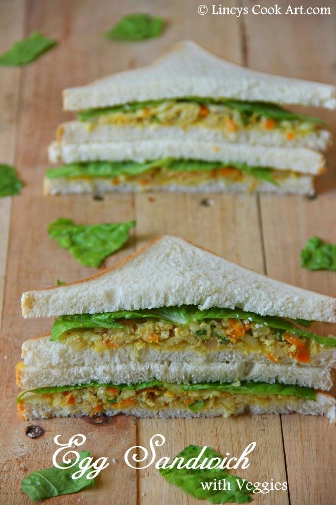 Egg Sandwich with Veggies