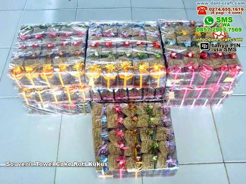 Souvenir Towel Cake Roti Kukus Handuk Cilacap