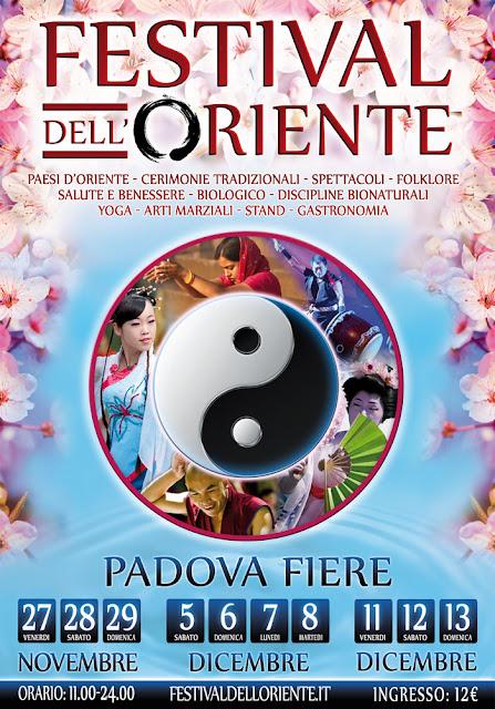 Il 27, 28, 29 Novembre ed ancora il 5, 6, 7, 8 Dicembre ed 11, 12, 13 Dicembre, il Festival dell'Oriente torna a Padova, presso il complesso fieristico Padova Fiere.