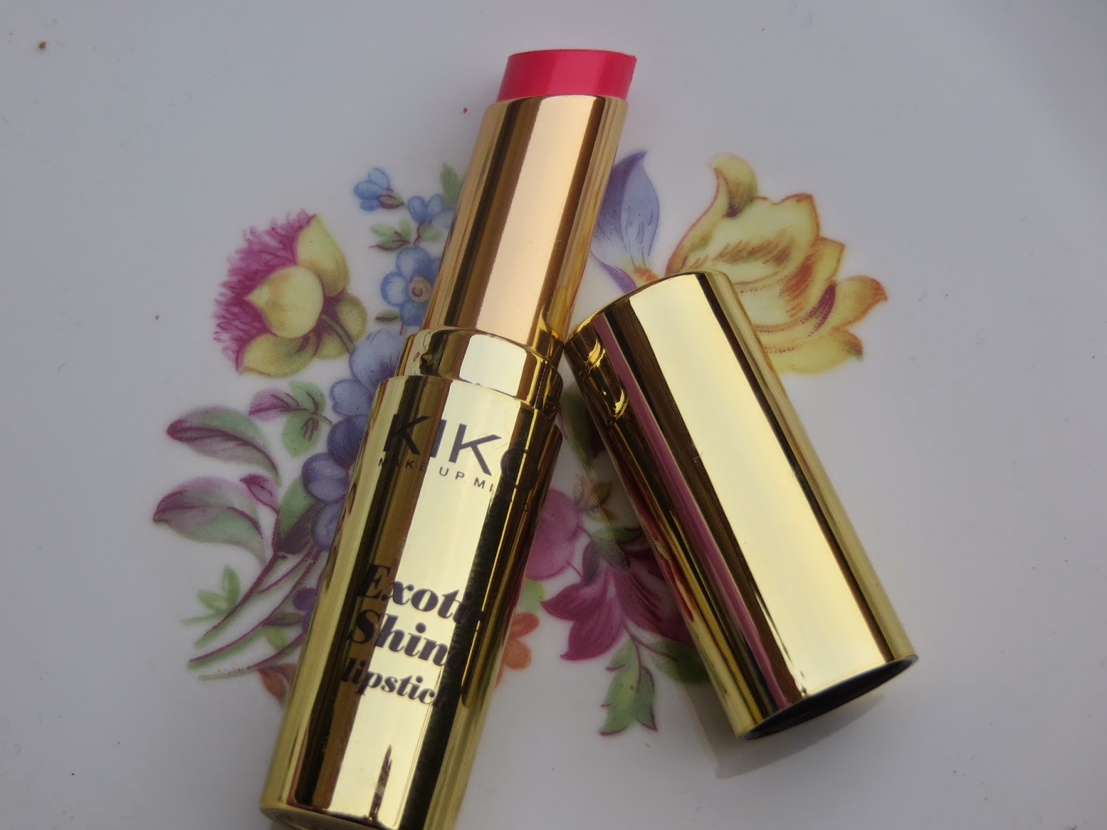 KIKO, Italian, Pink, Gold, Lipstick, Creamy, Pigmentation, Colour, Cheap, Highstreet, Review, Swatch, Lips