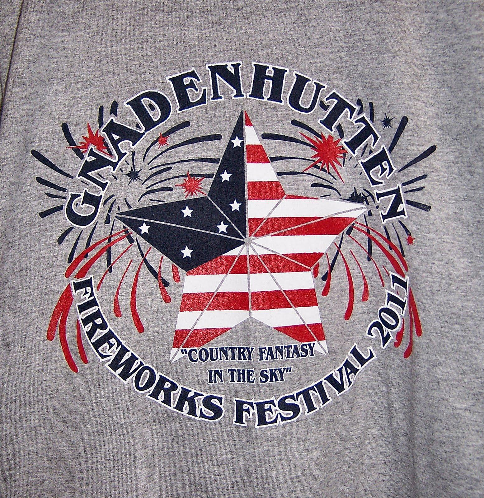 Gnadenhutten fireworks festival 2011 festival t shirt design for T shirt design festival
