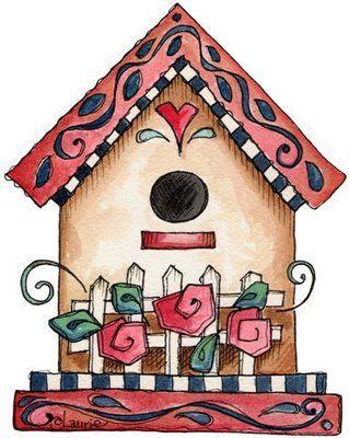 Casa de pajaros con rosas dibujos para imprimir pictures - Dibujos de casas para imprimir ...