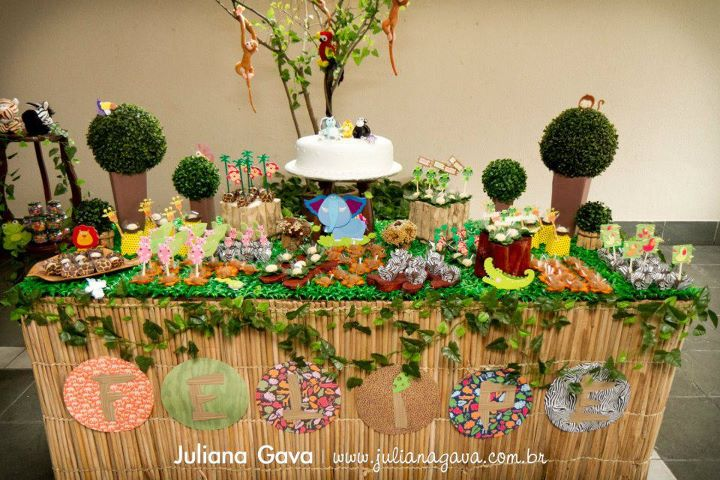 Karas Party Ideas Rainforest Jungle Birthday Party Karas Party Ideas