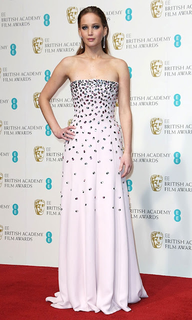 Jennifer Lawrence BAFTAs 2013 outfit