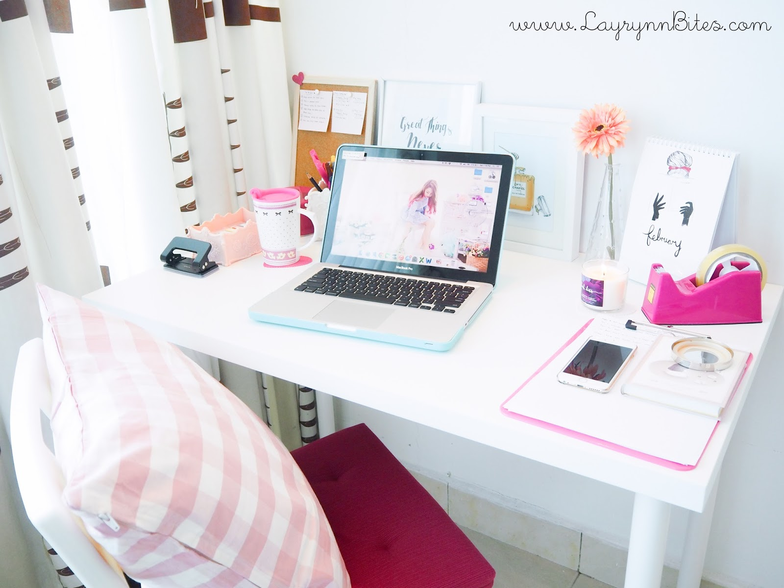 MY DESK TOUR 2015 CARMEN LAYRYNN