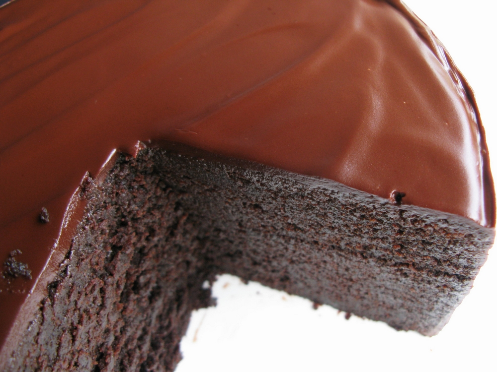 Rich Moist Dark Chocolate Cake