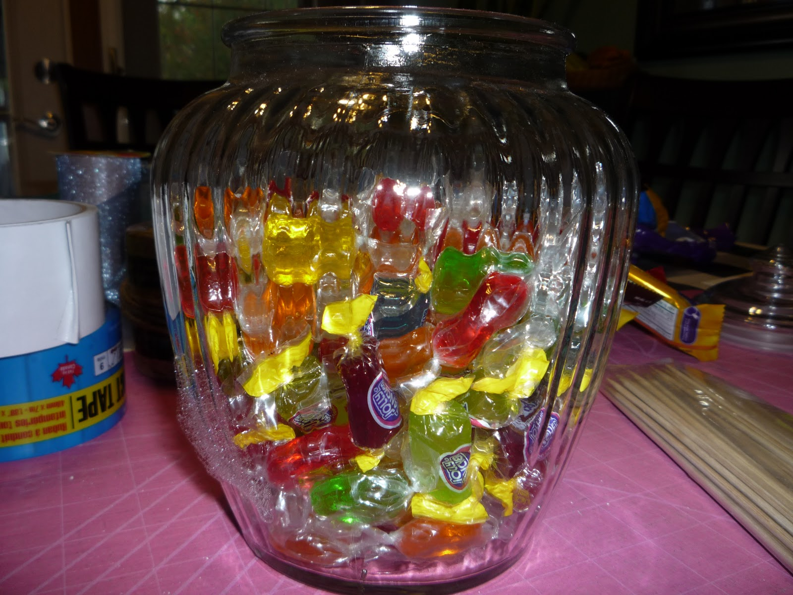 filled my cookie jar/vase with hard candy