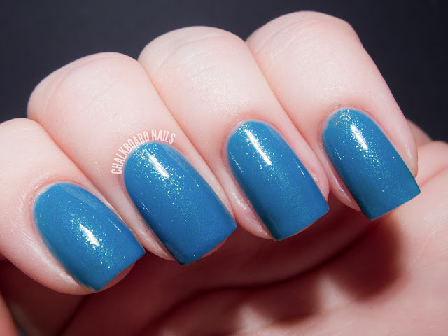 Chalkboard Nails: Contrary Polish Sky