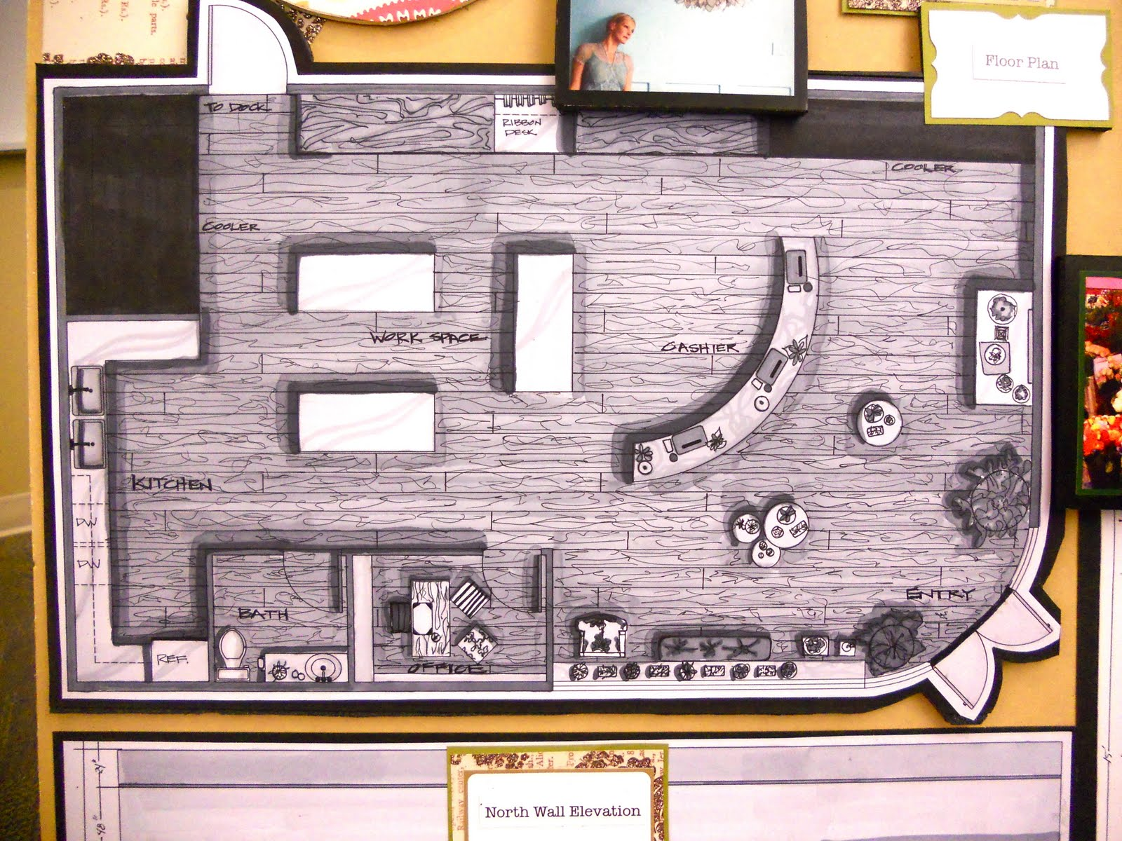 Brandalyn designs urban stem flower shop space planning for Small shop floor plans