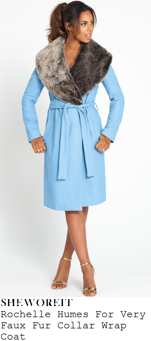 rochelle-humes-light-blue-and-grey-faux-fur-collar-wrap-coat-radio-1-studio