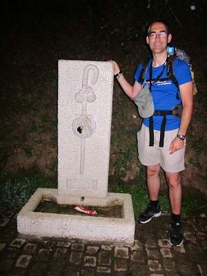 Monument to the pilgrim near Tui