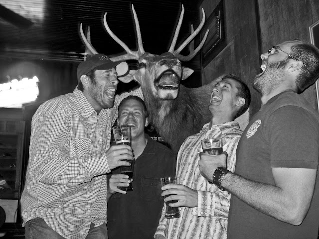 Even eight years later this elk in Crested Butte is still the funniest elk that we've ever had beers with.