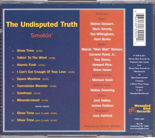 Instant Funk Witch Doctor : Bentleyfunk the undisputed truth smokin cd
