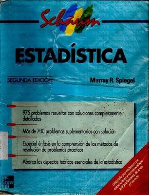 Estadística, 2da Edición   Murray R. Spiegel Schaum