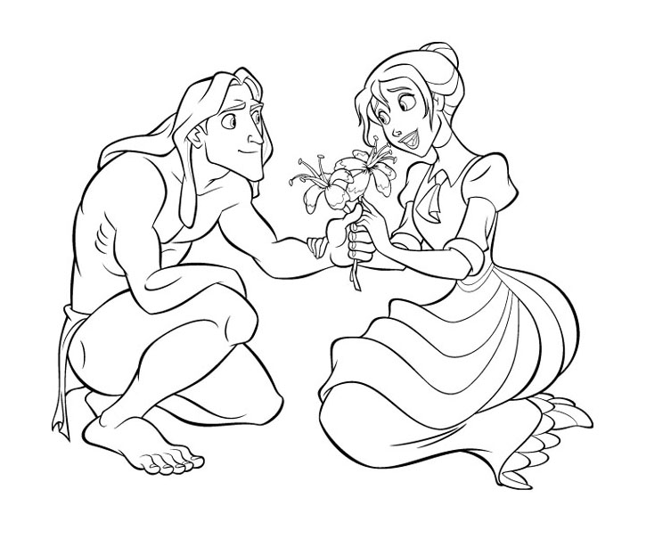 Coloring Pages Walt Disney : Free walt disney tarzan printable coloring pages