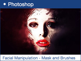 Simple Facial Manipulation with Layer Mask and Custom Brushes in Photoshop
